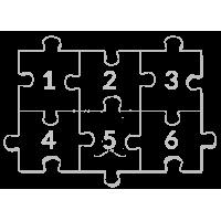 Własny projekt puzzli 2x3